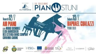 """Photo of [Live Music ] Pronta la IV edizione del festival """"Pianostuni"""" con  Raphael Gualazzi ed un esclusivo spettacolo di danze aeree e piano, il 12 e 13 luglio 2019 nel centro storico di Ostuni (BR). Ospite speciale l'attore Riccardo Scamarcio"""