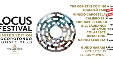 Photo of Grande successo in prevendita del Locus Festival 2020. Sold out per NICCOLò FABI e VINICIO CAPOSSELA il 7 e 8 agosto a Egnazia. Si aggiunge un nuovo concerto e si cambia location per la festa conclusiva di ferragosto.