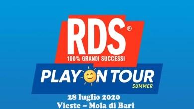 """Photo of """"RDS PLAY ON TOUR SUMMER 2020"""" il nuovo format innovativo e itinerante passerà dalla Puglia il 28 luglio a VIESTE e MOLA DI BARI"""