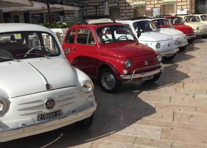 Tour auto d'epoca Fiat 500