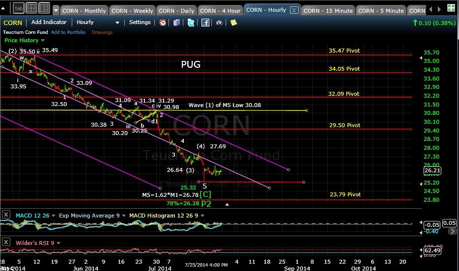 PUG CORN 60-min chart EOD 7-25-14
