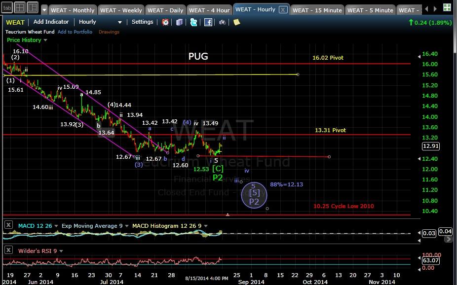 PUG CORN 60-min chart EOD 8-15-14