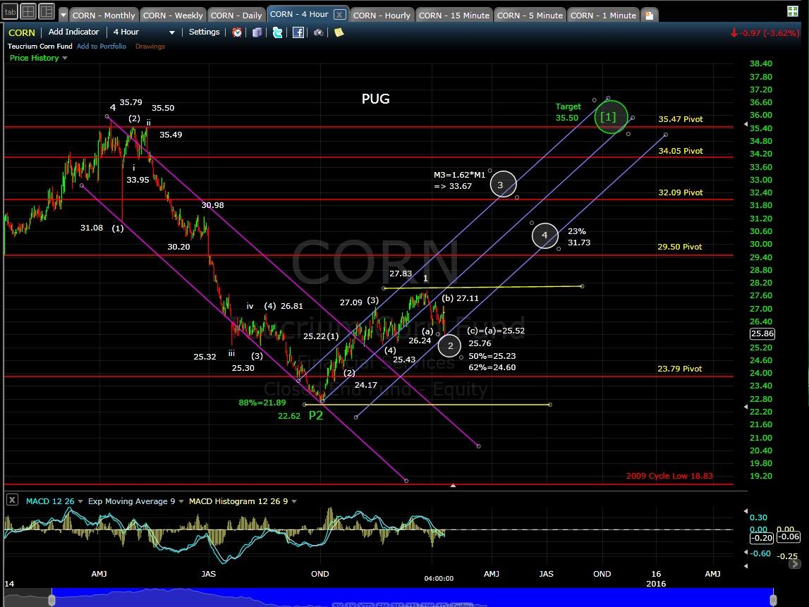 PUG CORN 4-hr chart EOD 1-13-15
