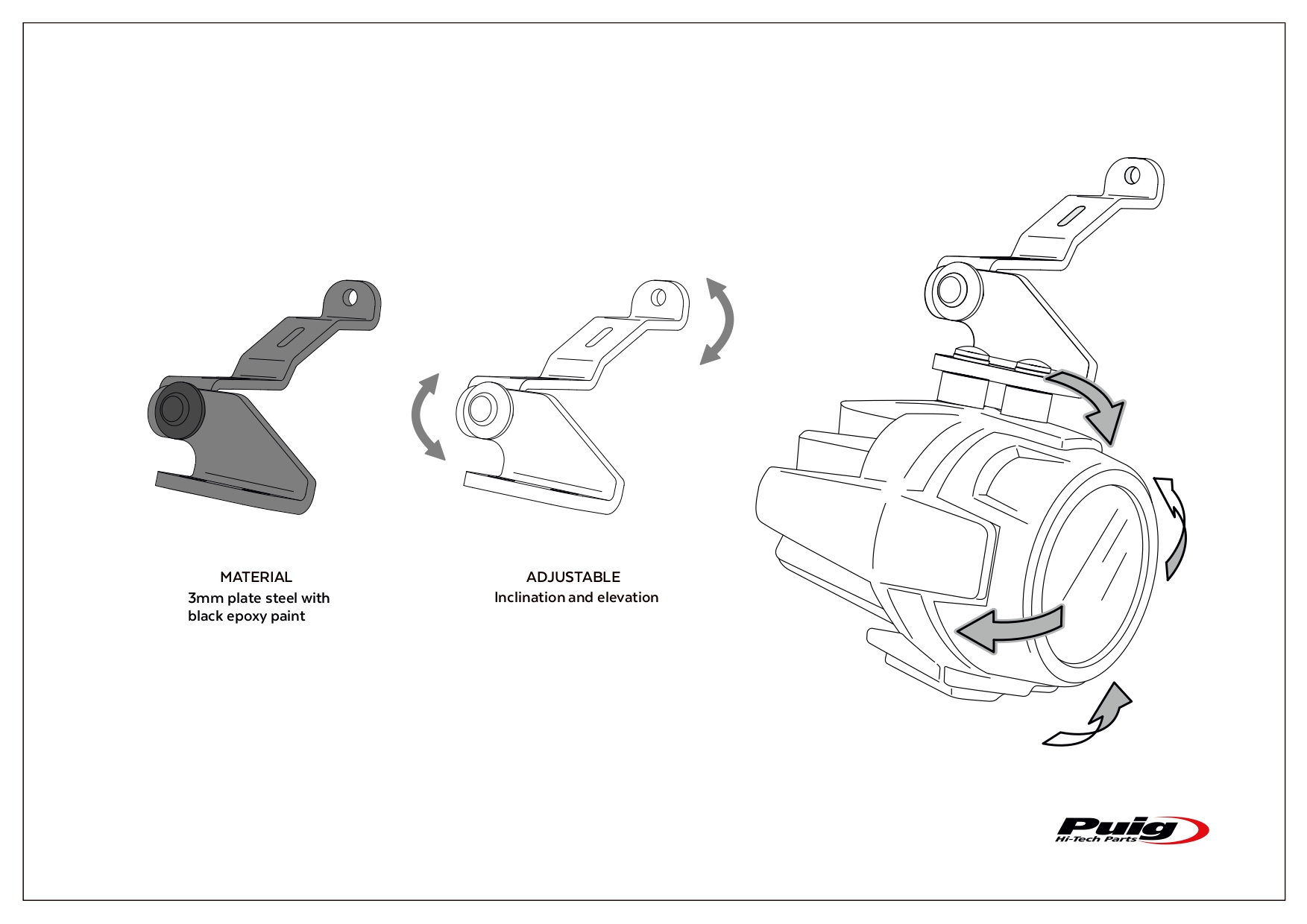 Puig Presents Specific Supports For Auxiliary Lights
