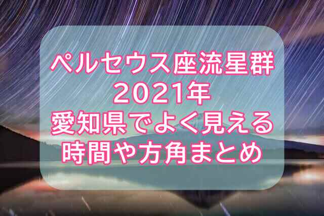 ペルセウス座流星群2021愛知県