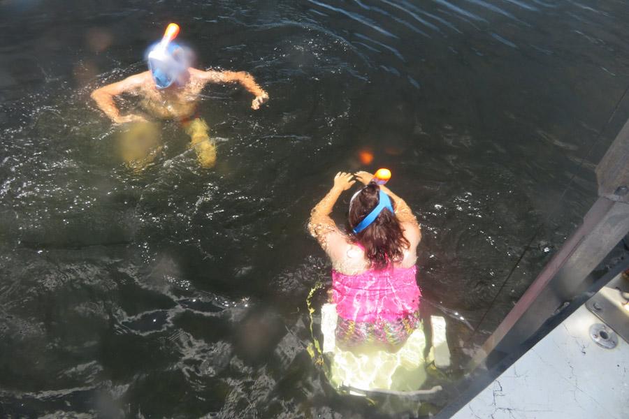 Snorkelen Key Largo - Sabine duikt van de lift af