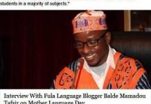Tafsir Balde mo teddungal.com