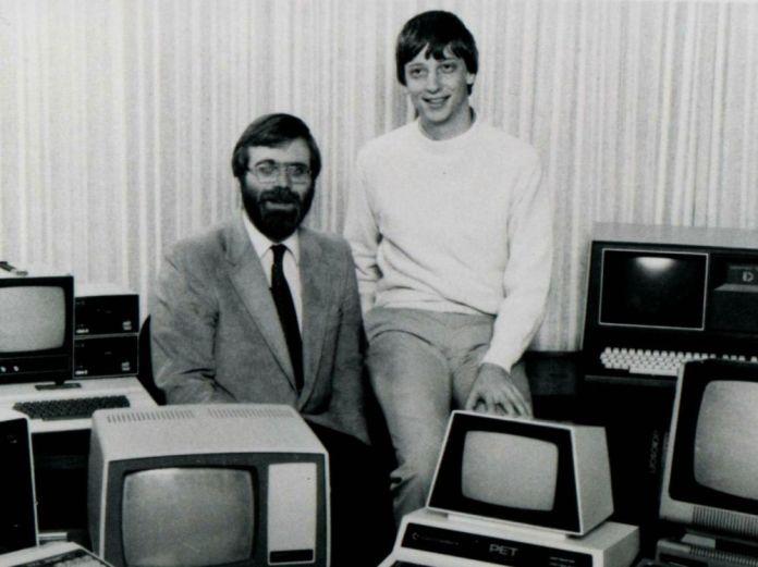 Paul Allen e Bill Gates e kitaale 70