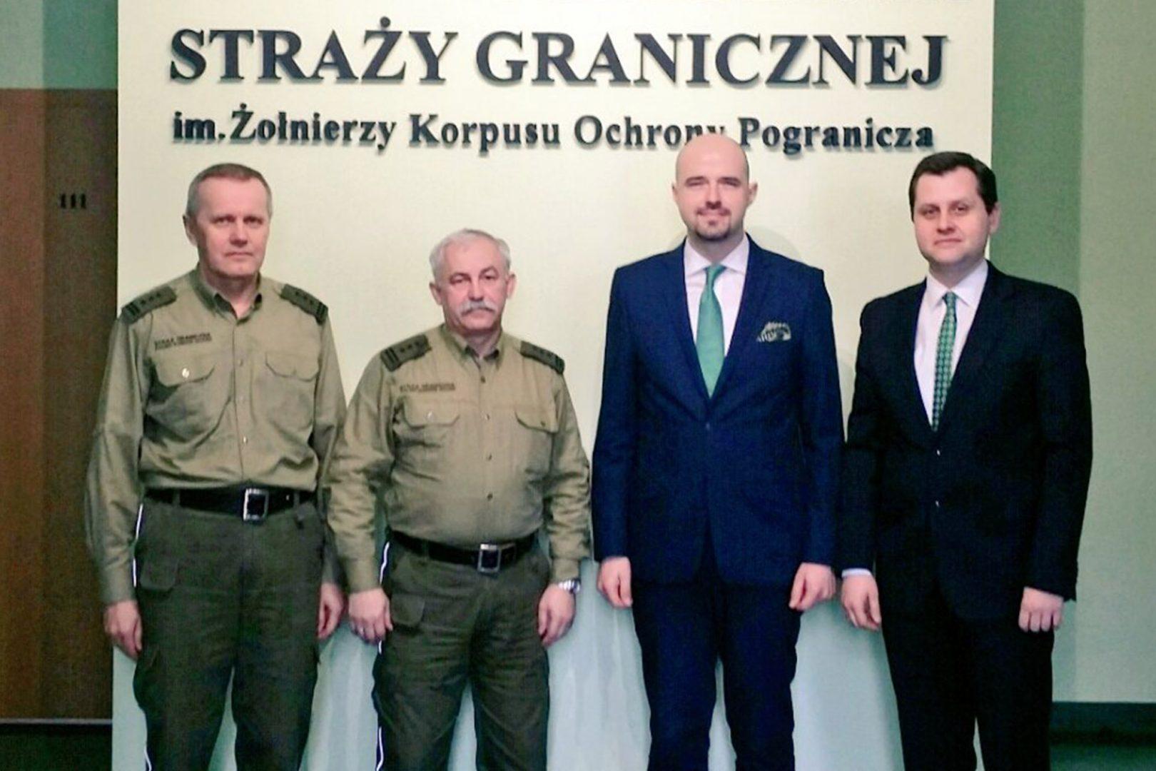 Kluczowa rola Straży Granicznej wSystemie Bezpieczeństwa Państwa – wizyta zarządu FKP wCentrum Szkolenia Straży Granicznej