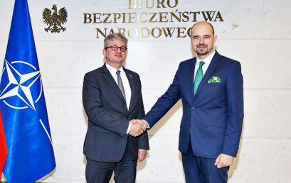 Current BBN actions and cooperation within the framework of Warsaw Security Forum were the topic of the meeting with Minister Paweł Soloch