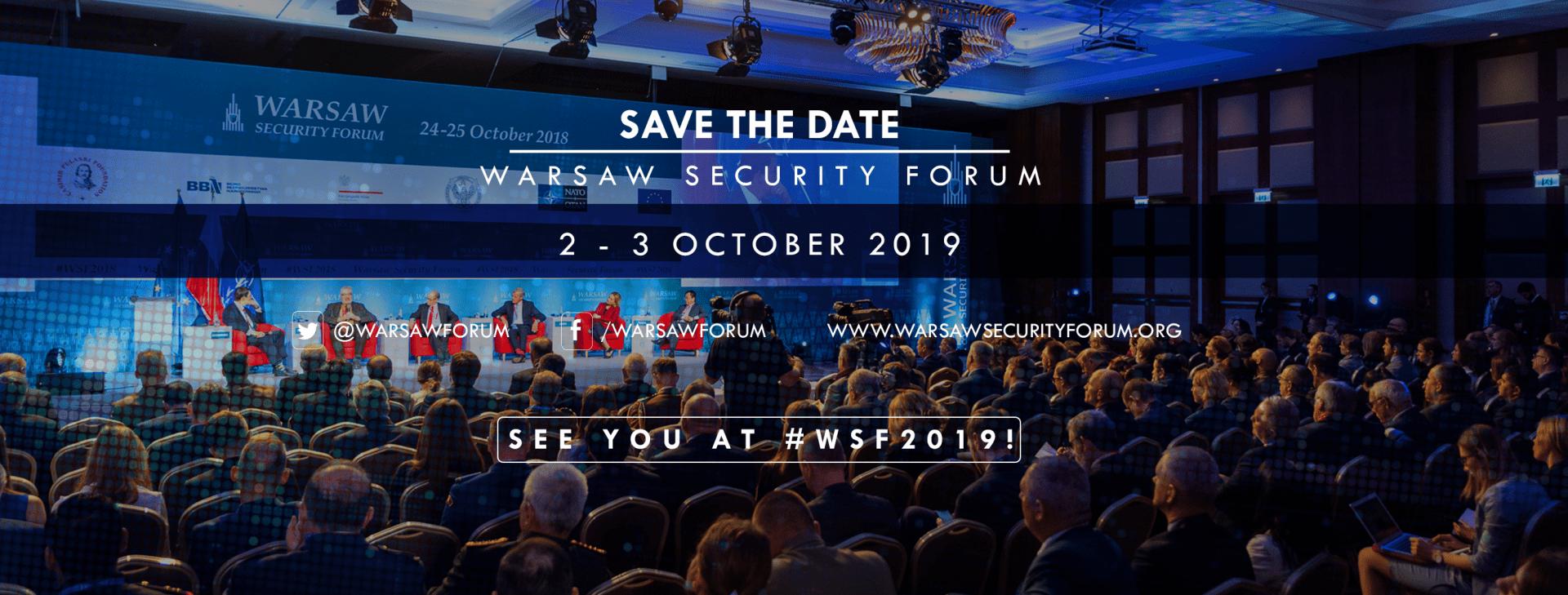 SAVE THE DATE: Warsaw Security Forum wdniach 2 – 3 października 2019 r.