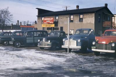 Woosencraft Motors 1950's side view.