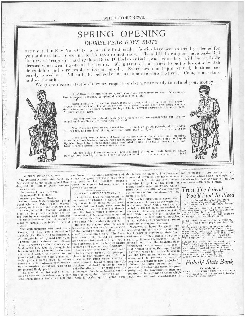 White Store News 1915