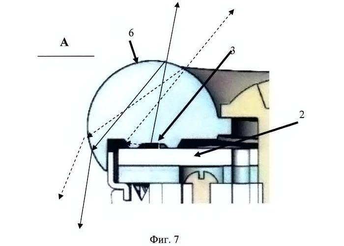 трассировка световых лучей для прозрачного материала линзы;