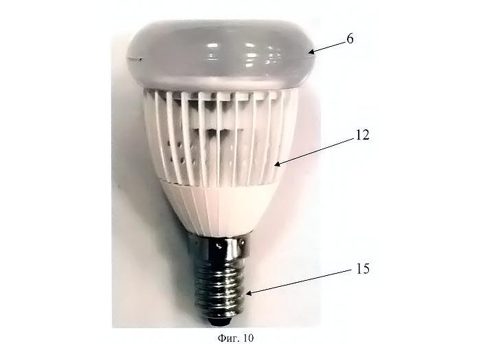 опытный образец светодиодной российской лампы