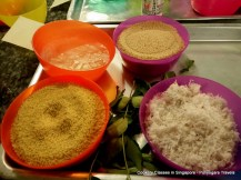 Ingredients needed to make Varagu arisi pidi kozhakatais