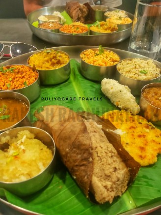Another view of the thali I had curated