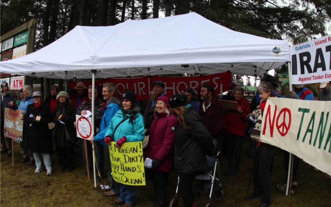 Keep your dirty hands off our ocean: Gabriola Island rallies against Kinder Morgan