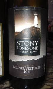 Stony Lonesome Estate Reserve Gruner Veltliner from Three Brothers Wineries & Estates.
