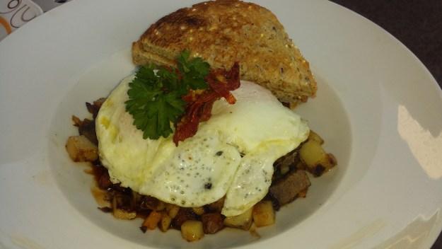 Perk Eatery's Chimichurri Hash & Eggs