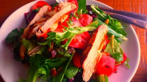 Strawberry Fields salad with chicken