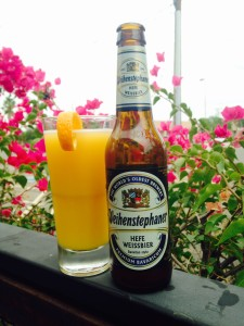 Mimosa & beer at 32 Shea in Phoenix
