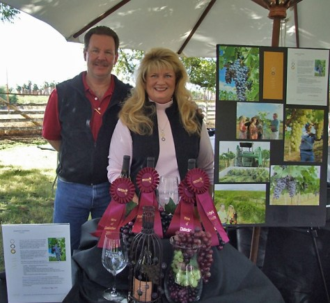 Wine maker & Owner Kurt Dunham & co-owner Peggy Fiadaca
