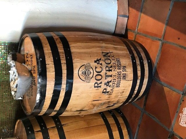 Roca Patron tequila private label available at Spotted Donkey Cantina