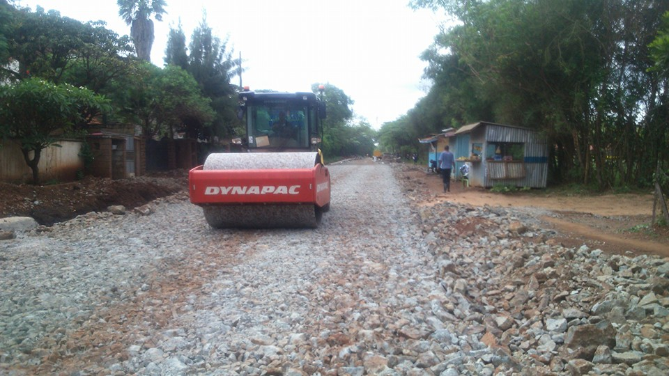 Road grading, compaction