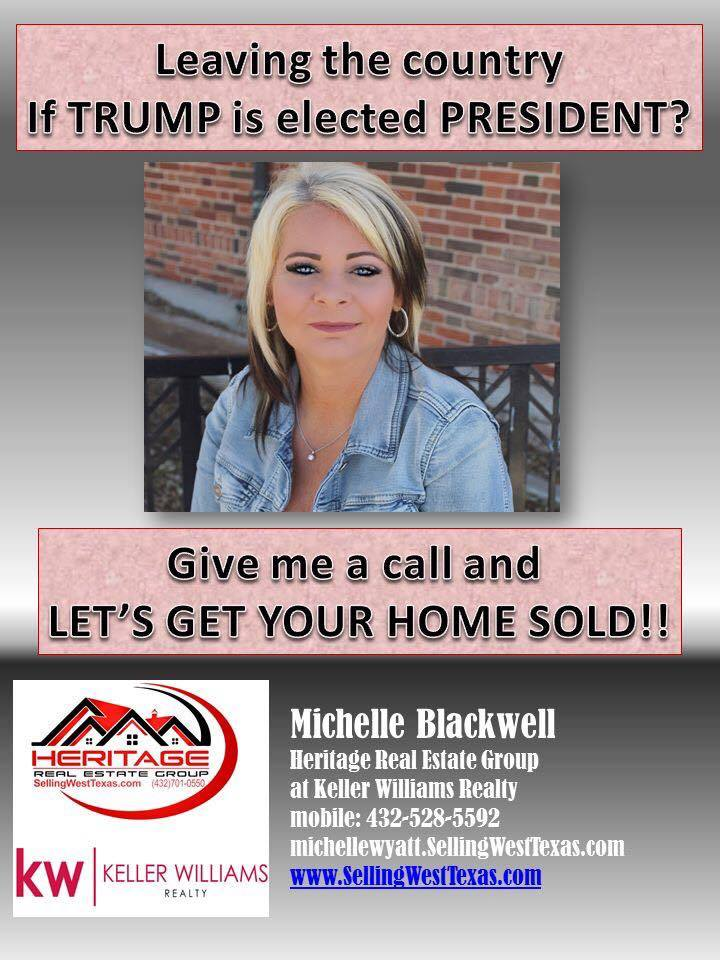Leaving if Trump Elected Realtor