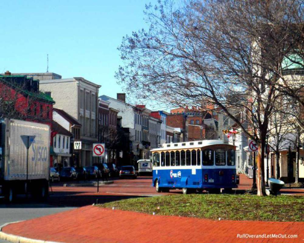 One of the busiest streets in Annapolis.