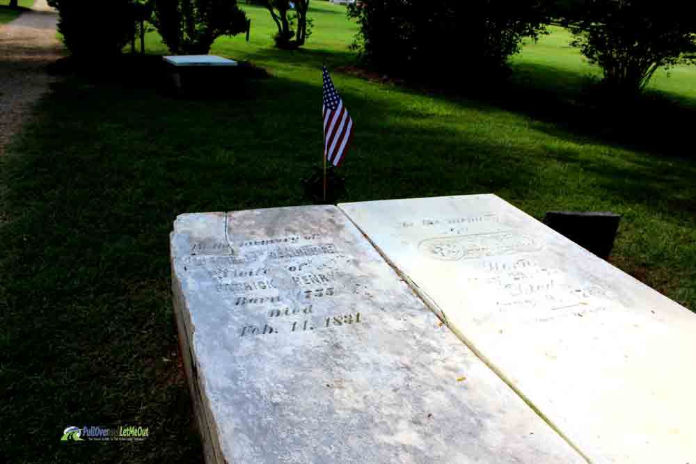 Patrick Henry's grave Patrick Henry's Red Hill PullOverandLetMeOut