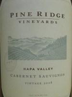 Pine Ridge Vineyards Napa Cabernet Sauvignon