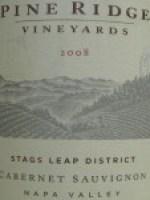 Pine Ridge Vineyards Stags Leap Cabernet