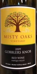 2009 Misty Oaks Red Wine
