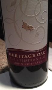 2011 Heritage Oak Tempranillo