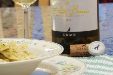 Farfalle with Pistachio Cream Sauce and Graci Etna Bianco