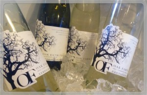 White wines from Oak Farm Vineyards