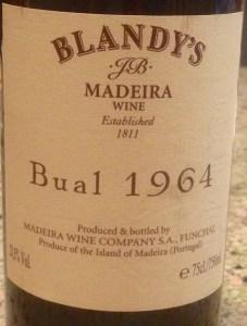 Blandys 1964 Bual Madeira