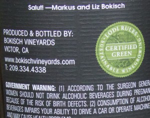 Lodi Rules Certified Green Sustainable Winegrowing seal
