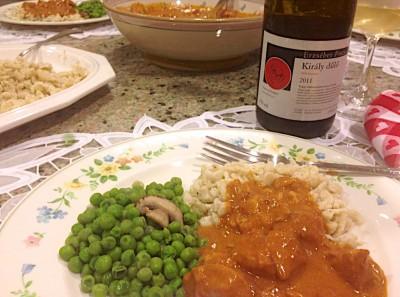 The Chicken Paprikas dinner
