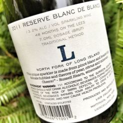 Lieb Cellars Blanc de Blancs label