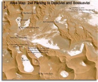 Sossusvlei and Deadvlei area map