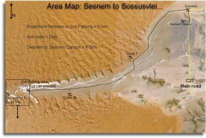Sossusvlei area map