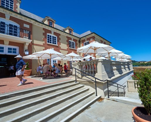 Front patio at Domaine Carneros