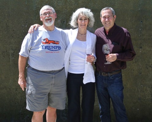 Pete and Nancy with Dave at Twomey