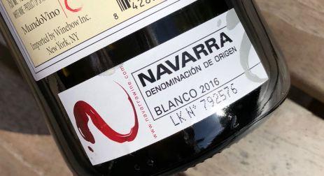 Back label Castillo Monjardin El Cerezo Chardonnay