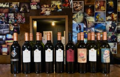 Tasting Lineup at Dos Cabezas WineWorks