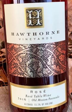 Hawthorne Vineyards Rose, Old Mission Peninsula