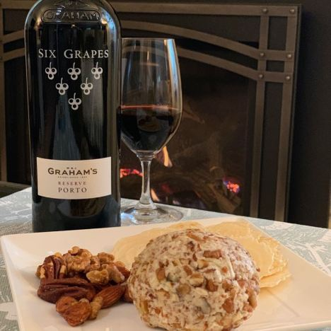 Graham's Six Grapes Reserve Port and Aunt Maggie's Cheese Ball